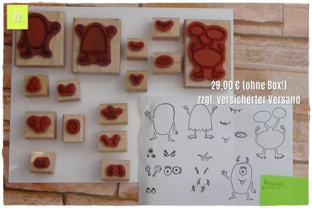 Make a Monster, auf Holz montiert, ohne Box! (29,00 Euro zzgl. Versand)