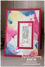 Geburtstagskarte Aquarell Karins Kreativkiste Stampin Up ganz WZ
