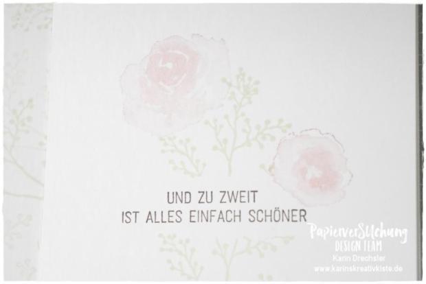 Hochzeit Geschenkebüchlein Karins Kreativkiste Stampin Up Text und Bild innen WZ