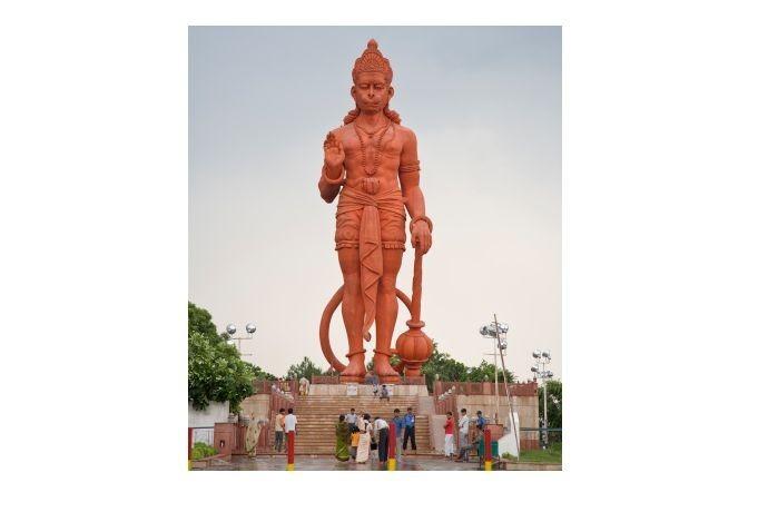 Statue of the Hindu God Hanuman, Delhi, India_-5677074645809738060