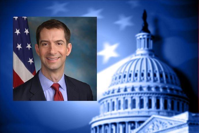 Sen. Tom Cotton and U.S. Capitol_-1167563254466393886
