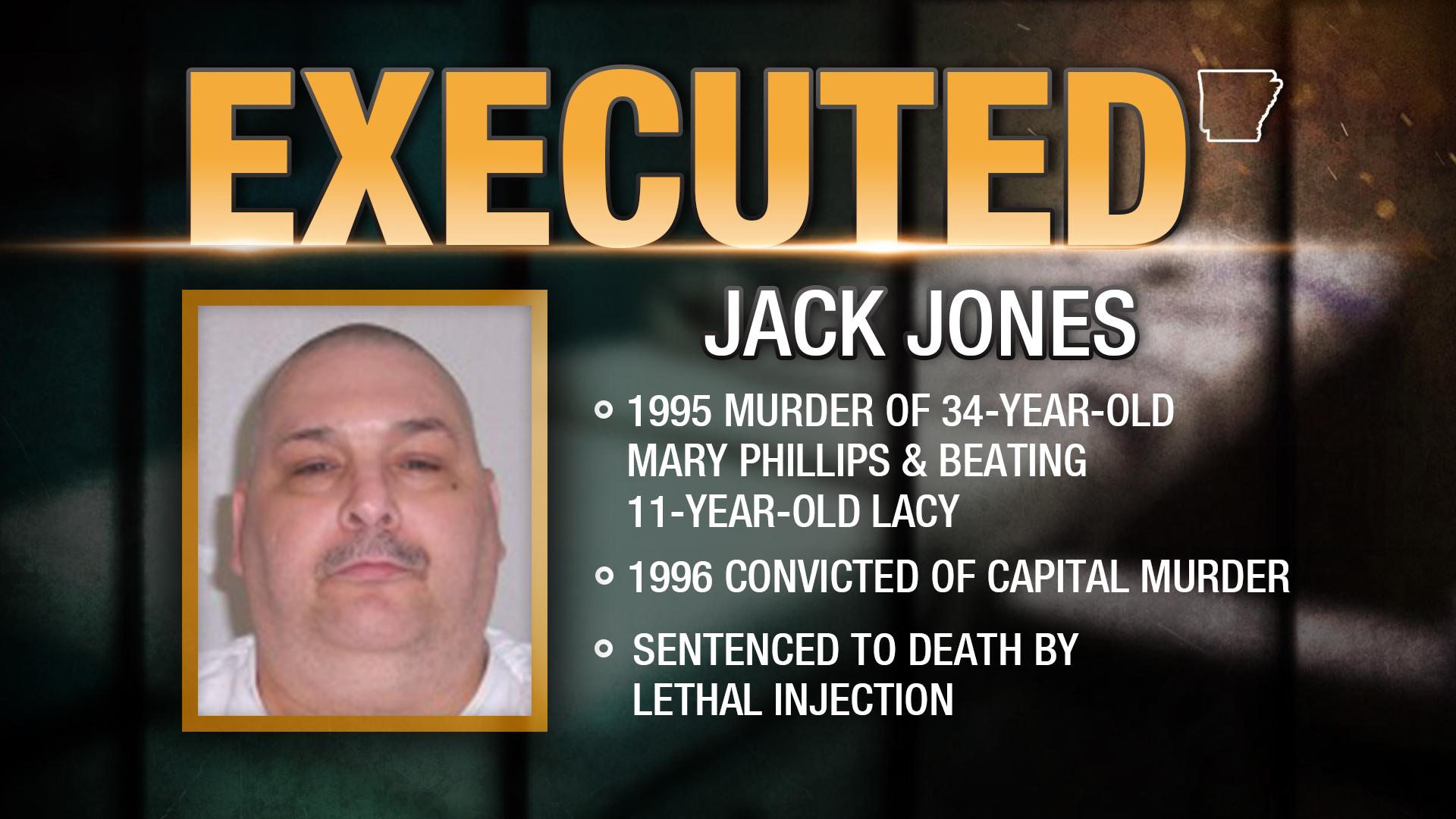 Arkansas Executes Death Row Inmate Jack Jones
