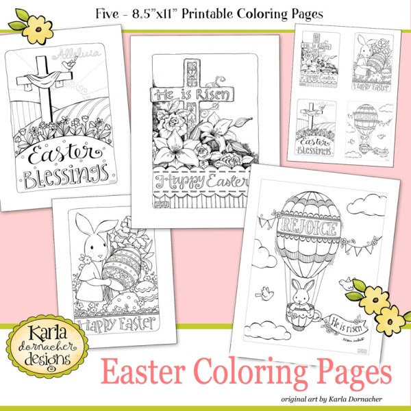 Easter Coloring Pages Etsy