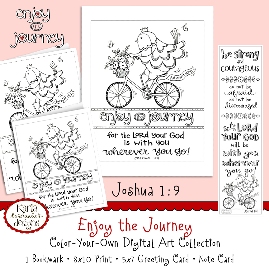 Enjoy the Journey Joshua 1 9 Coloring Collection