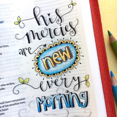 New Year New Mercies – bible journaling tips & techniques