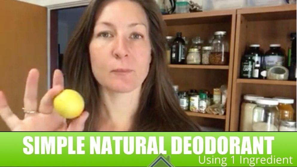 Simple Lemon Deodorant