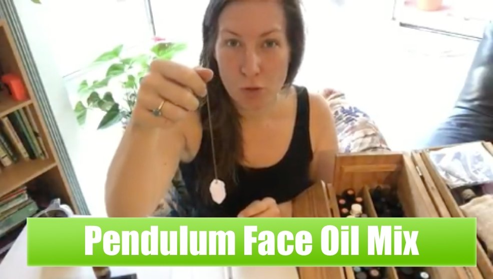 How to make face oil using a pendulum