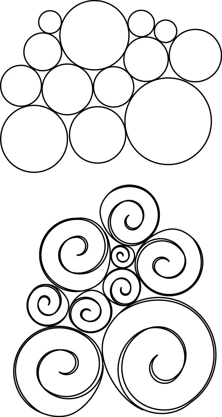 Simple continuous lines 1 Continuous Line Quilt Patterns
