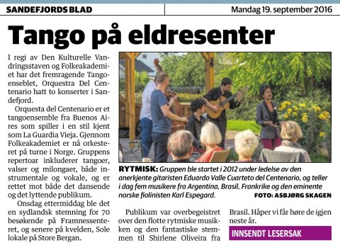 Sandefjords Blad, September 2016