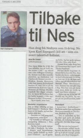Hallingdølen, May 2006