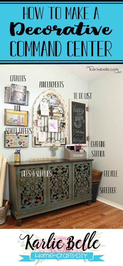 How to make a Decorative Command Center Pinterest