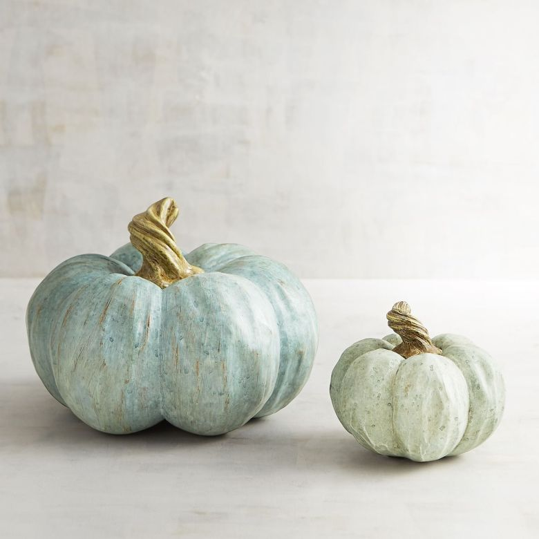 Neutral Fall Decor Blue Pumpkins Pier 1