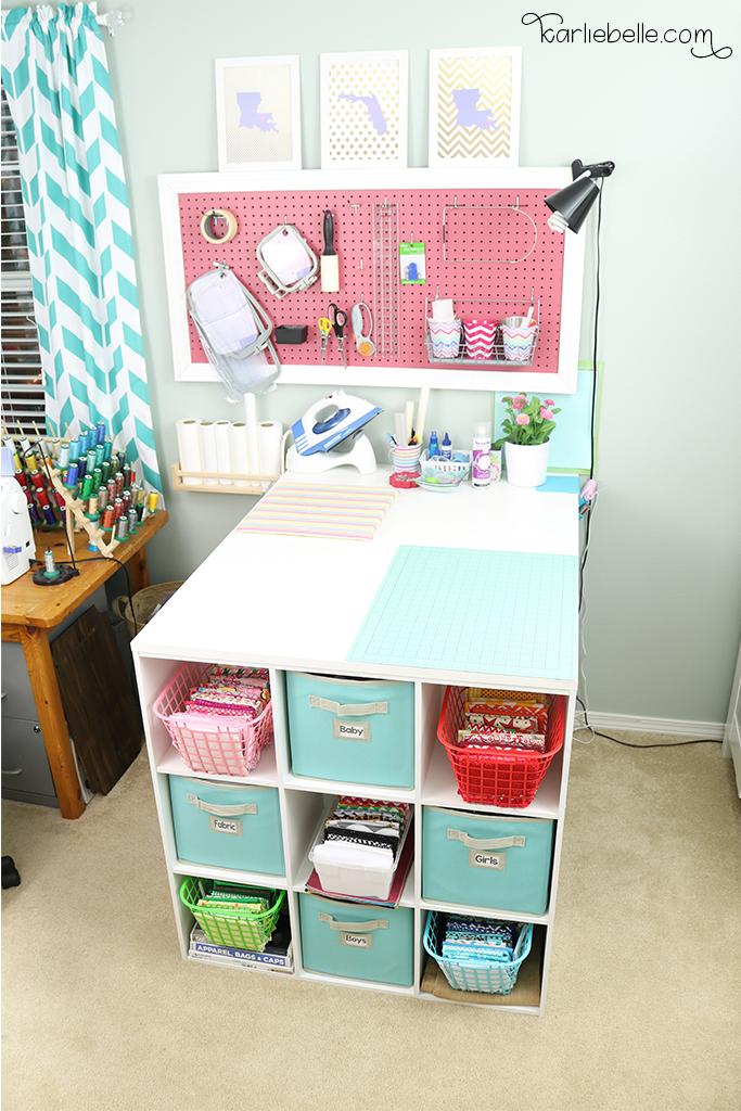 Diy Craft Table And Pegboard Karlie Belle