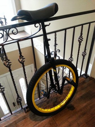 "Sun Flat Top Extreme DX Unicycle 24"" Flat Black"