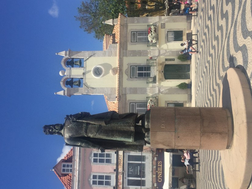 Statue of King Pedro in Cascais Old Town