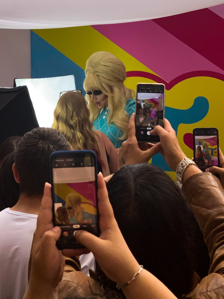 Trixie Matel meeting fans in her booth. Trixie was the winner of Drag Race Allstars 3.