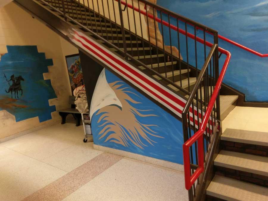 Karl Wilkes – E.L. Wright Middle School Murals – Karl Wilkes Art ...
