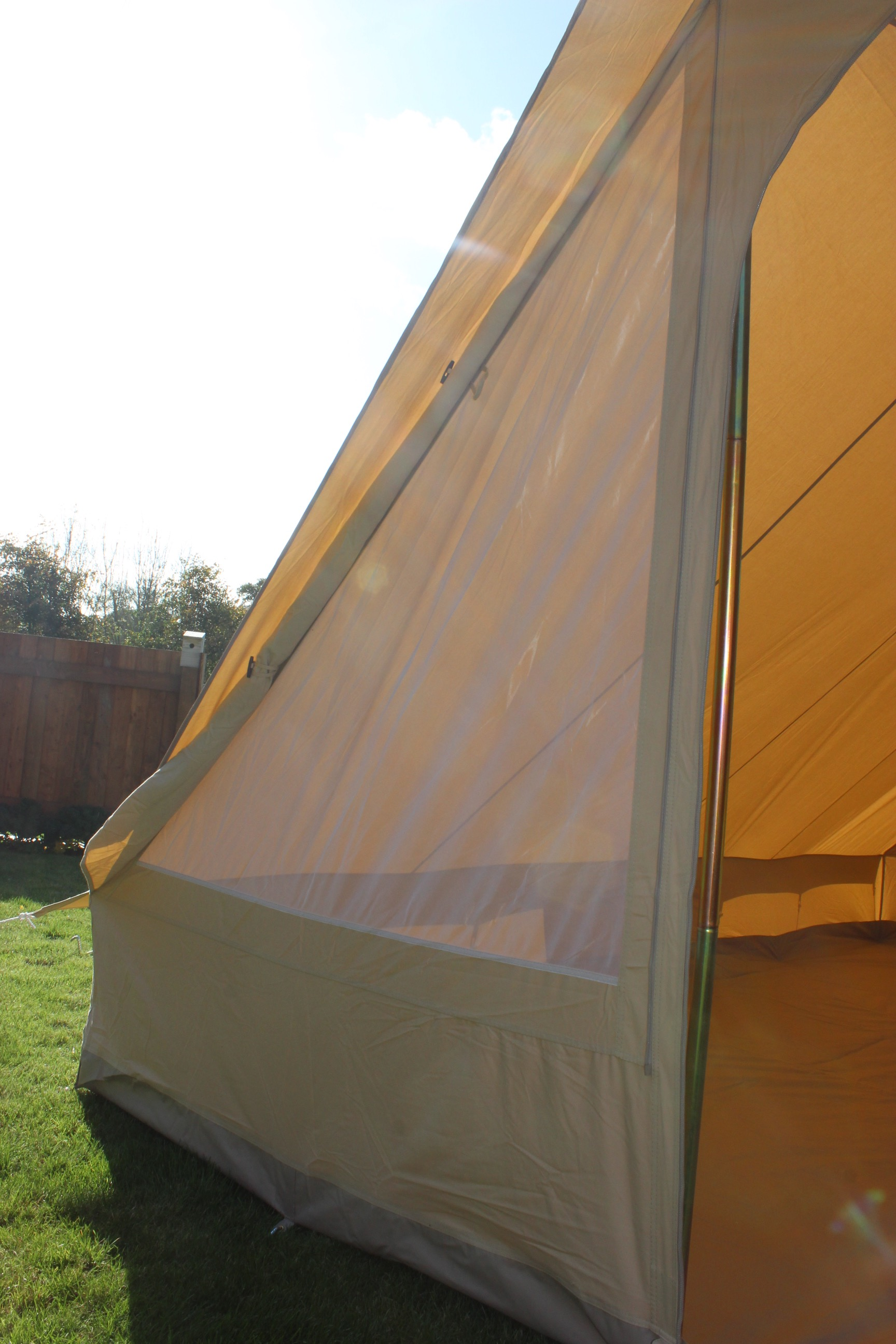 Canvas Pyramid Tent  Double Door  Karma Canvas