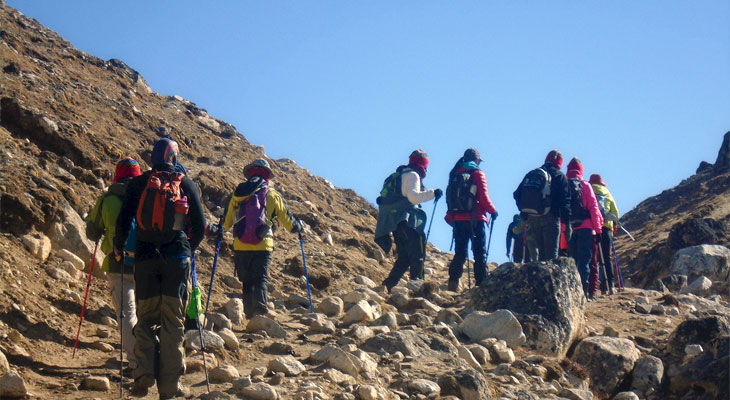 Clients are moving towards Everest Base Camp Trek
