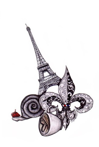 Karmaela Design: France inspired tattoo design