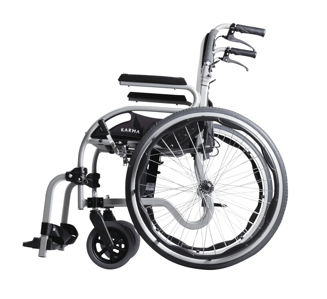 Star 2 Designed Wheelchair With Swing Away Footrests