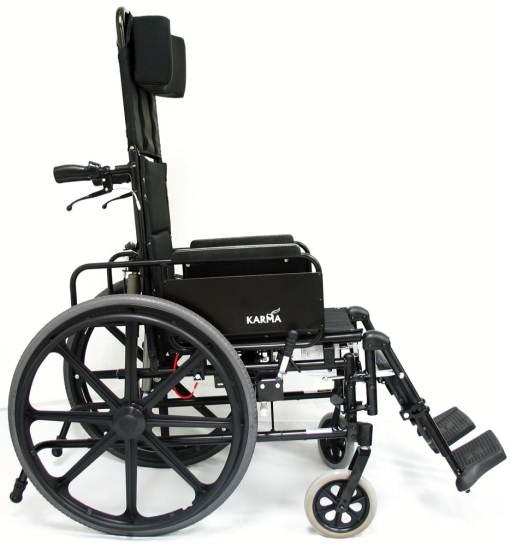 km5000f18 1xl lightweight reclining wheelchair