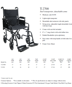 transport wheelchair with detachable arms