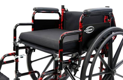 LT 770Q Cushion -red streak wheelchair