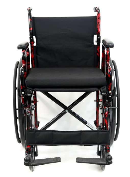 LT 770Q FrontView -red streak wheelchair