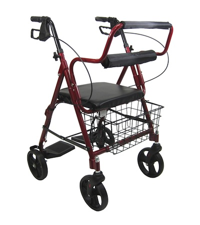 walker chair combo arm protectors leather convertible wheelchair -