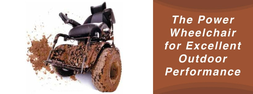 The Power Wheelchair for Excellent Outdoor Performance