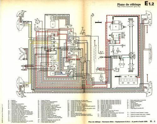 small resolution of karmann ghia sch ma lectrique chevy van wiring diagram 1970 vw karmann ghia wiring diagram