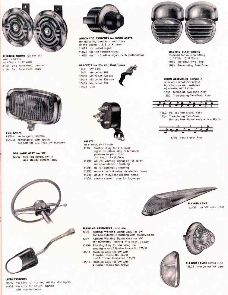 1957 Accessories Manual for VW and Porsche cars