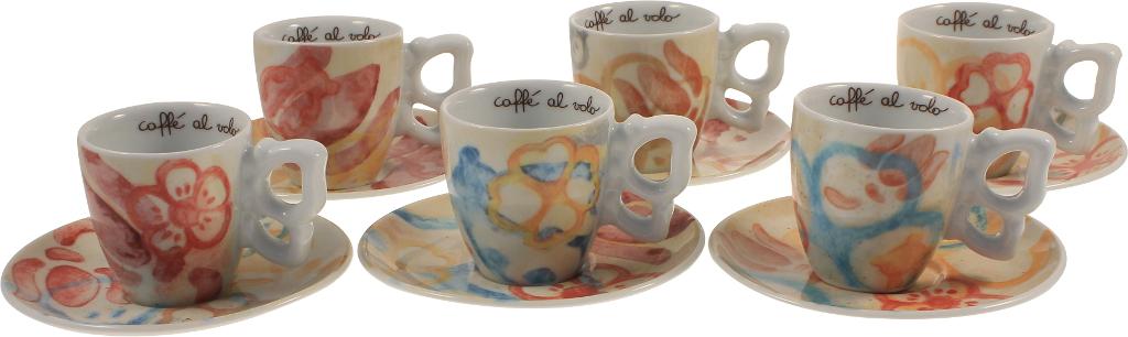 Confezione 6 Tazzine Caffe Romance
