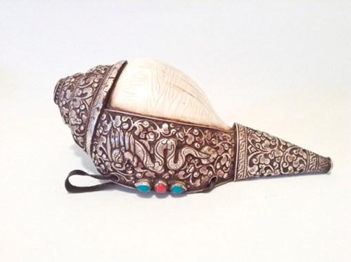 Tibetan Buddhist Conch Shell