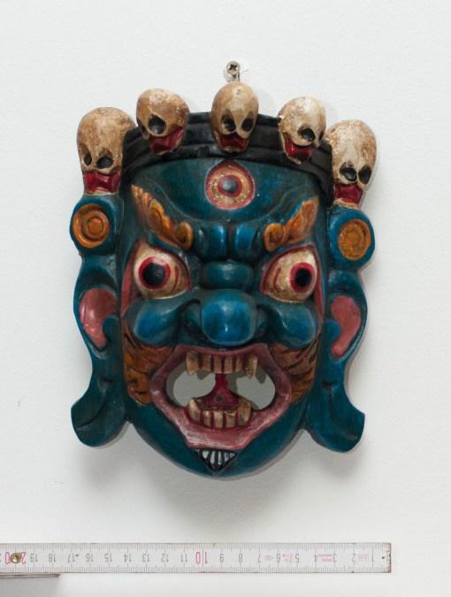 Mahakala Tibetan Wooden Mask Green