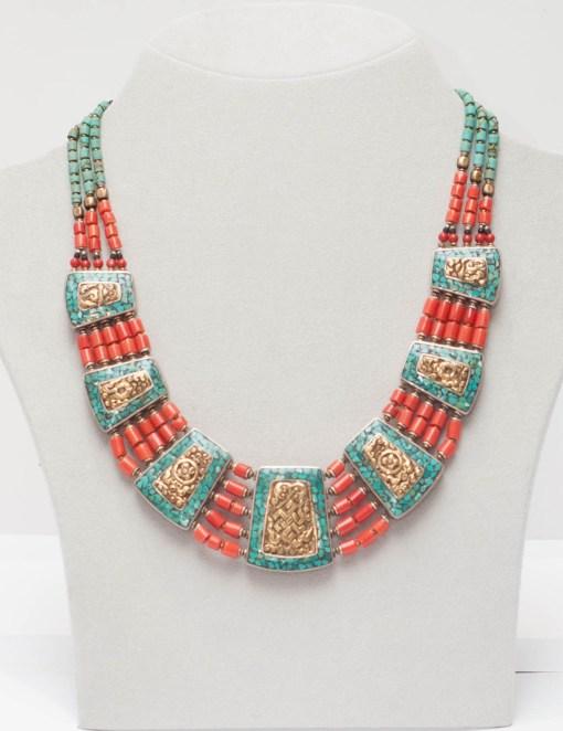 Handmade Tibetan Revsersible Necklace
