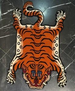 Hand knotted Tibetan Tiger Rug