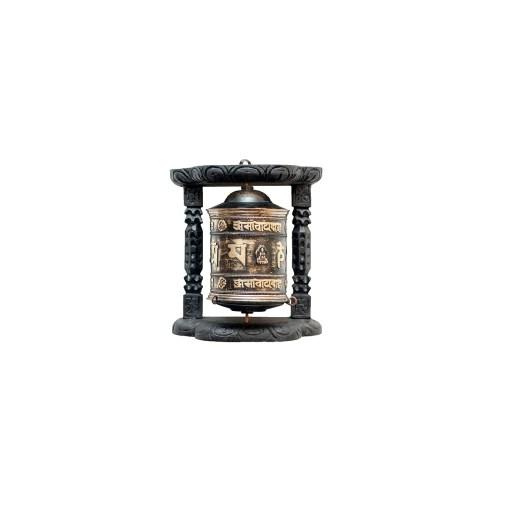 Tibetan Buddhist wall prayer wheel