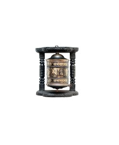 Tibetan Buddhist wall prayer wheel