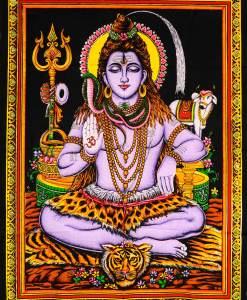 Lord Shiva Wall Hanging   Shiva Wandbehang