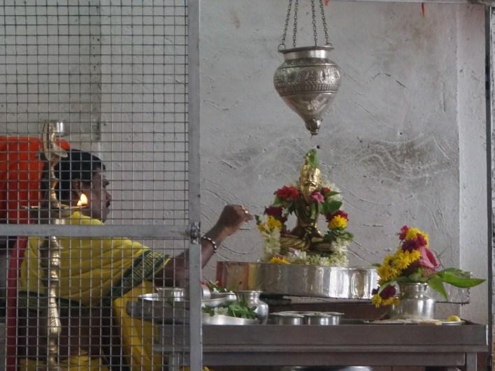 Abhishekam at Siddhalingeshwara swamy temple, Yediyur