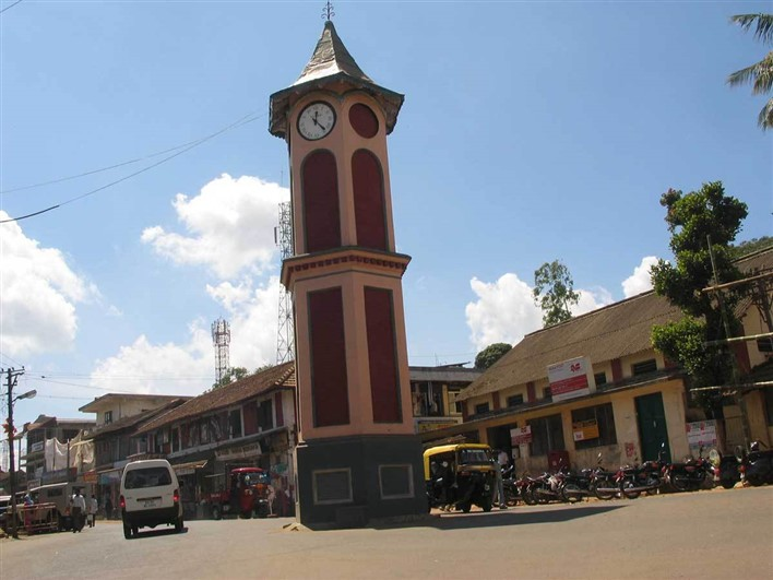 Clock Tower, Virajpet. Image source CoorgToursimInfo
