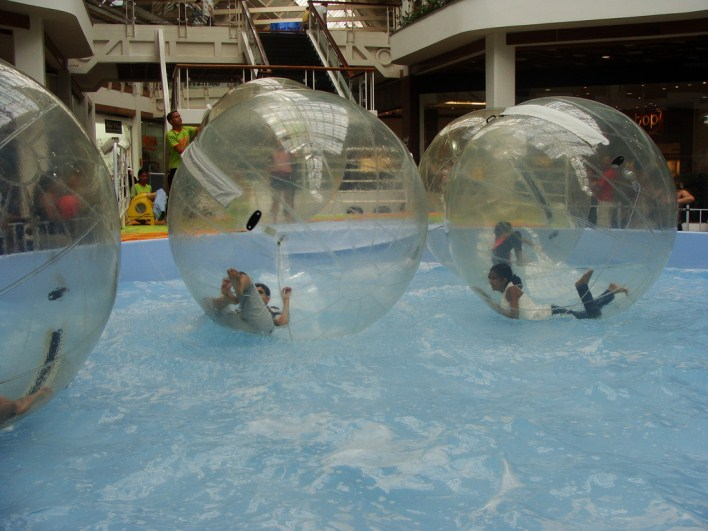 Zorbing. Image source http://www.flickr.com/photos/bensutherland/4088677831/