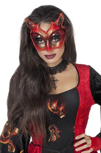 Maske Teufel brille Halloween bei karnevalswiertscom