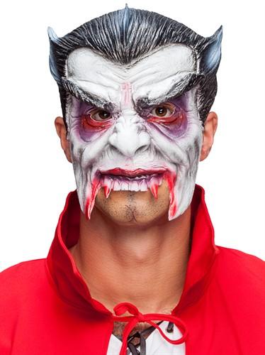 Halbmaske Vampir Latex Halloween bei karnevalswiertscom