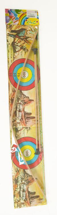 Pfeil und Bogen Holz 76 cm.