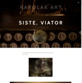 Artistic Website Layout, the Example 06: the final project of the fullscreen hero area for one of the single page of this website in 2017, the fragment. Artistic Web Design - Art Portfolio Website.
