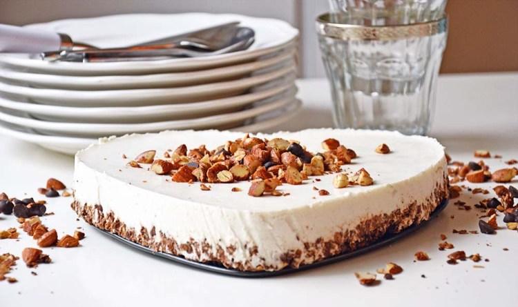 Sunnere ostekake med smak av vanilje og sjokolade