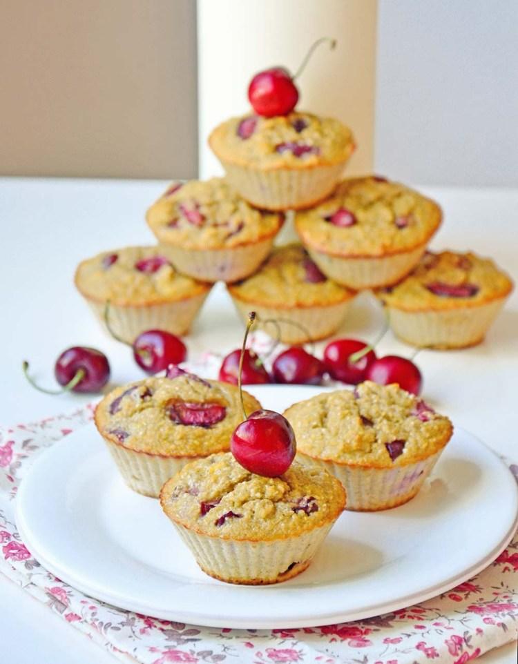 Proteinrike muffins med moreller